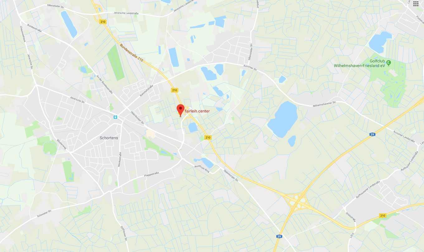 Mit GoogleMaps zum fairleih.center Schortens